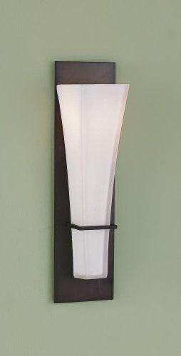 Feiss WB1220ORB Boulevard Glass Wall Sconce Lighting, 1-Light, 100watts, Bronze (4