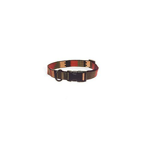 "Bison Pet 1"" Rasta Adjustable Nylon Dog Collar"