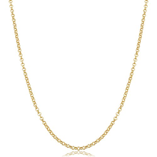 Kooljewelry 14k Yellow Gold 1.9 mm Rolo Chain Necklace (24 inch)