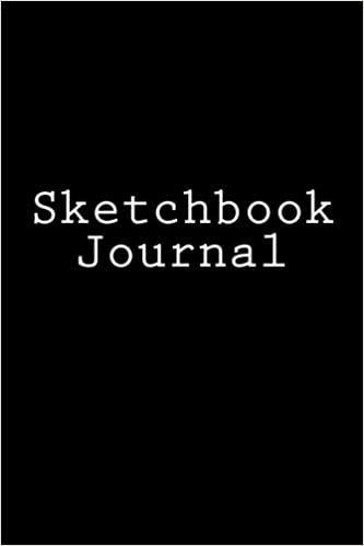 Sketchbook Journal: 6 x 9 inch, 200 page, Black