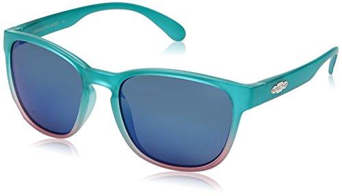 Suncloud Loveseat Sunglasses, Aqua Pink Fade Frame/Blue Mirror Polycarbonate Lens, One Size (Buy Online Loveseat)
