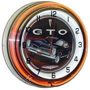 GTO, Neon Clock, Bright Double 18 inch Neon