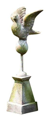 Finial Garden Statue (Orlandi Statuary FS00261 Dove Finial 24 Garden Statue, Pompeii)