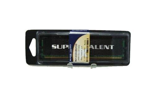 Super Talent DDR3-1333 2G/128X8 CL9 with Heatsink Memory W133UB2G9