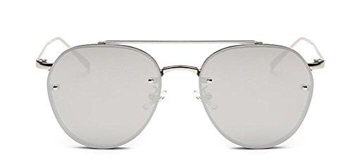 GAMT Metal Frame Aviator Sunglasses Vintage Unisex Design Silver