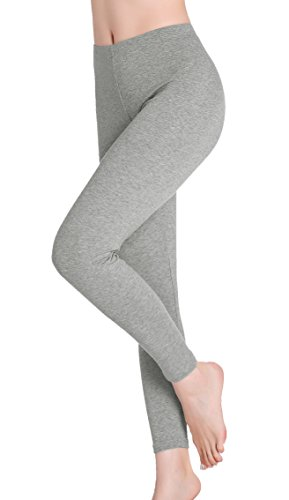 CnlanRow Womens Under Skirt Leggings Thin Stretchy Ankle Leggings for Women Plus Size Light Gray]()