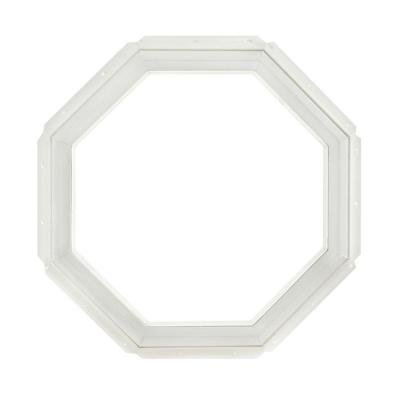 TAFCO WINDOWS Vinyl Octagon Window, 22 in x 22 in., White with Dual Pane Insulated Glass