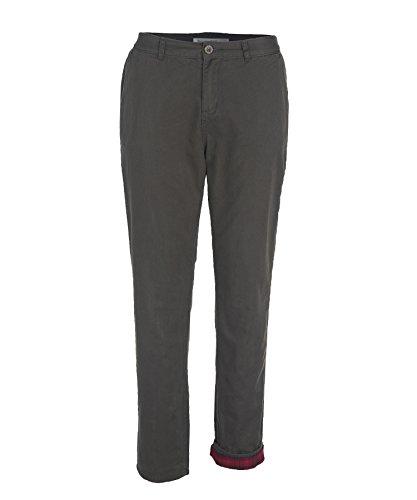 Woolrich Women's Alderglen Flannel Lined Chino, Matte Gray, 6