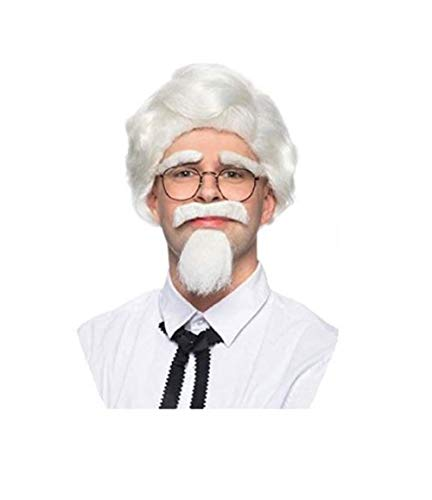 Enigma Wigs Men's Southern Man, white, one