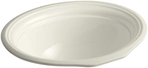 4in Undermount Bath Sink - KOHLER K-2336-96 Devonshire Undercounter Bathroom Sink, Biscuit
