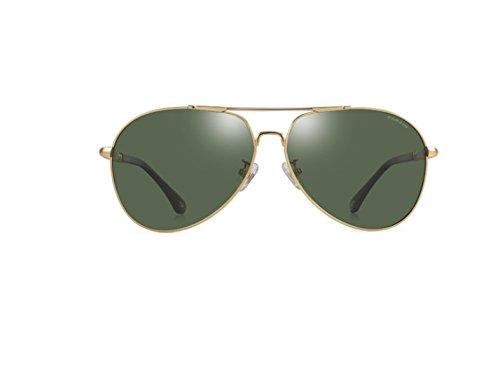 Color Golden De Circular Plata De Green Hombres Gafas De Película Gafas Espejo Film Polarización Framed NHDZ Moda De Enmarcado Reflectante xP1wnq1a0