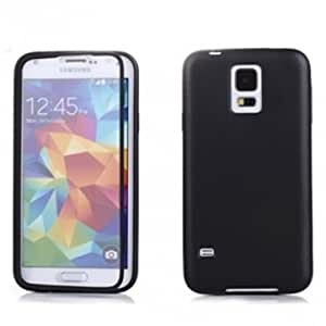 Protective Flip-open TPU+PC Touch Screen Case For SAMSUNG S5 i9600 --- Color:Black -Big Paw Trading