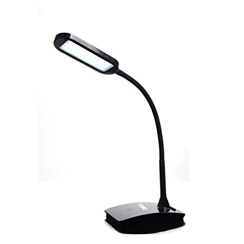 LED Desk Lamp - Balakie Folding Dimmable Eye Protective ,Touch-sensitive Control Panel (3 Lighting Modes, 5V/1A USB Charging Port) 180 Degree Flexible Adjustable Arm Table Light (Black)