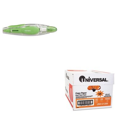 KITUNV21200UNV75605 - Value Kit - Universal Retractable Pen Style Correction Tape (UNV75605) and Universal Copy Paper (UNV21200)