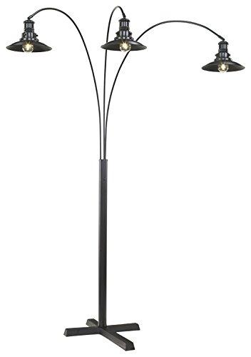 (Ashley Furniture Signature Design - Sheriel Metal Arc Lamp - Industrial - Adjustable Neck - Black)