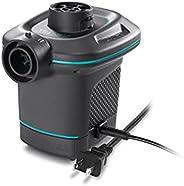 Intex Quick-Fill Ac Electric Air Pump, 110-120V, Max. Air Flow 21.2Cfm, Black