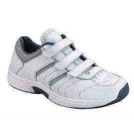 Orthofeet Men's Ventura Sneakers,White,10 N