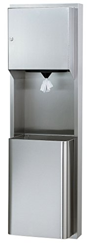 (Bradley 236-11 Surface-Mounted Towel Dispenser & Waste Receptacle (Center Pull))