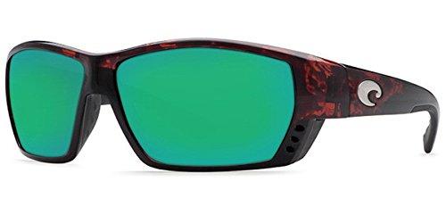 Costa Del Mar Tuna Alley Sunglasses, Tortoise, Green Mirror 580 Plastic ()