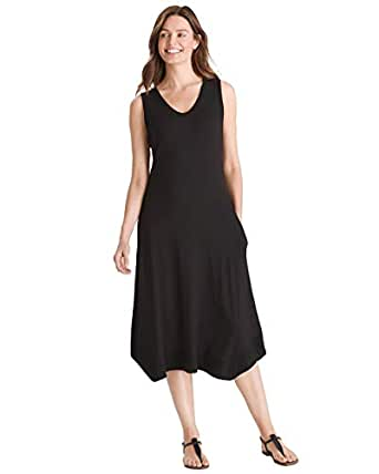 Chico's Women's Rib-Trim Midi Dress at Amazon Women's