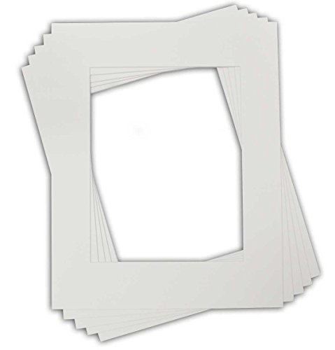 Golden State Art Pack of 10 16x20 White Picture Mats with White Core Bevel Cut for 11x14 pictures