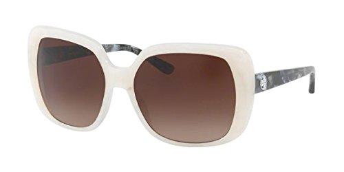 Tory Burch Women's 0TY7112 Ivory Moonstone/Blue Brown Gradient - Sunglasses Burch Tory Blue