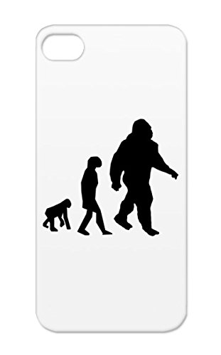 Black TPU Sasquatch Silhouette Miscellaneous Humor Funny Funny Bigfoot Evolution Of Protective Hard Case For Iphone 5/5s Bigfoot Evolution Rugged