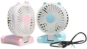 Mmyu Mini Fan Cartoon Folding Mini Fan Student Outdoor Portable Summer Cool Charging USB Cat Blue