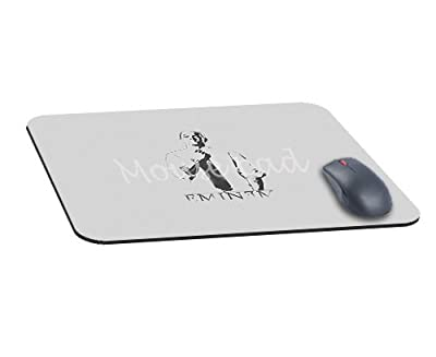 Office Rectangle Mouse Pad with Eminem Art Minimal Image Cloth Cover Non-Slip Rubber Backing-Gaming Mousepad(8.7x7.1x0.12 Inch)