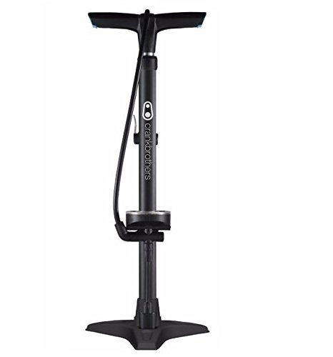 Crank Brothers Gem Floor Pump Stamped Base, Black (Gems Workshop)