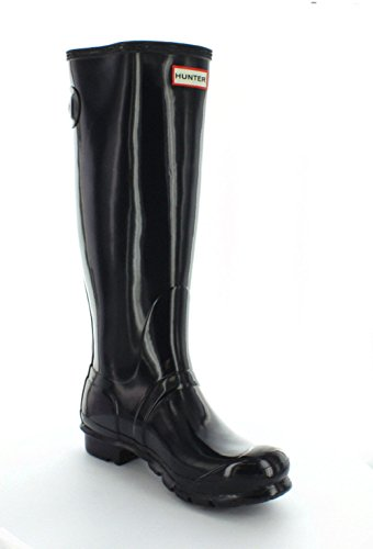Hunter Original Back Adjustable Gloss, Damen Stiefel Dunkelblau