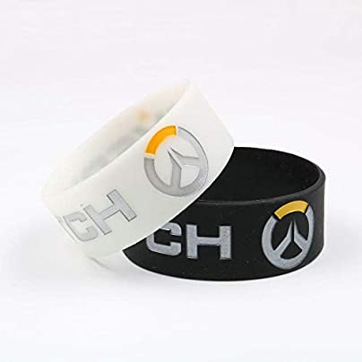DuDuDu Silicone Wristbands Overwatch Soft Silicone Wristband overwatch wide bracelet wrist strap Pairs Estimated Price £24.99 -