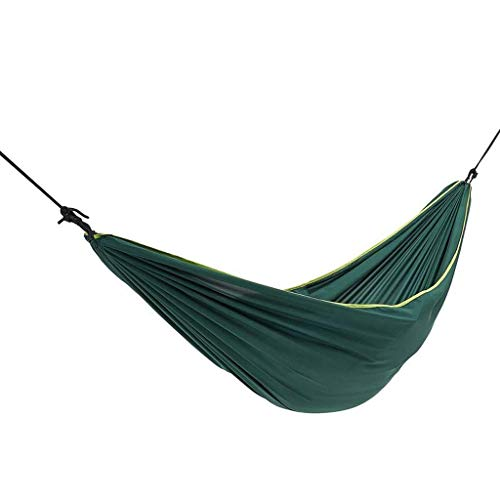 DCCER Hammock Outdoor Double-Layer flip Adult Camping Folding Chair to Carry Convenient Swing, Parachute Bed (Color : Green)