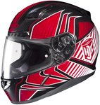 2014 Hjc Cl-17 Redline Motorcycle Helmets - Red - X-Large