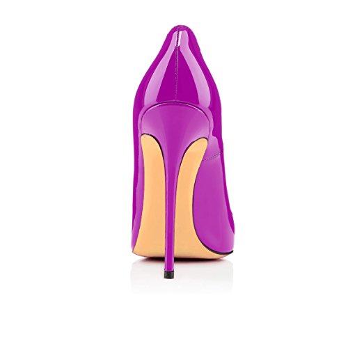 Col Tacco Classiche da uBeauty Viola Scarpe Tacco Col Scarpe Scarpe Donna q6xqXwIBY