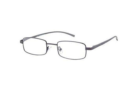+1.50 Foster Grant Aluminum AL39 Semi Rimless Reading Glasse