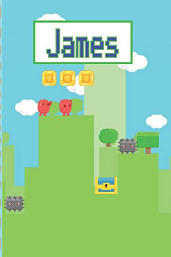 Pdf Parenting James: Personalized Named Gamer Journal Notebook Cool 8 Bit Platform Game Cover For Boy's And Men Lined Pages