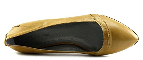 Costume National Handcrafted Dress Ballet Flats (10 Us; 40 It)