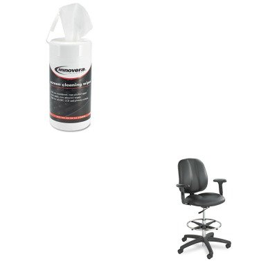 Adjustable Tpad Arm Kit - KITIVR51510SAF6689BL - Value Kit - Safco Adjustable T-Pad Arms for Apprentice Series Chairs (SAF6689BL) and Innovera Screen Cleaning Pop-Up Wipes (IVR51510)