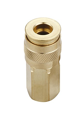 Tanya Hardware,air hose fittings,universal,Industrial,coupler,1/4 in,FNPT,brass,1/4-Inch NPT Female Thread, 1 Piece- A0004