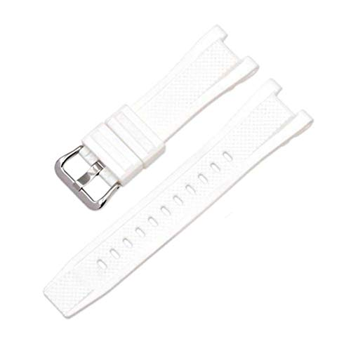 Kudden Watch Band Strap Pin Buckled Adjustable Resin Rubber Wristband Wristwatch Bands Replacement Accessories for ()