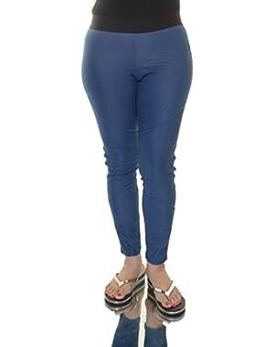 Jessica Simpson Juniors' Denim Leggings,Size M