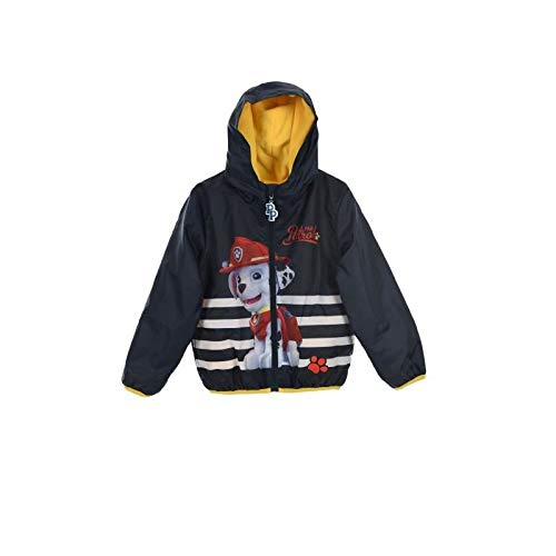 - Paw Patrol Boys Chase and Marshall Stripe Raincoat Jacket and Pouch Navy 4 Years