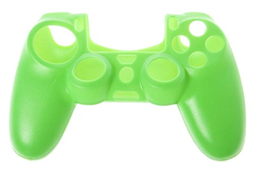 Price comparison product image Amiley Hot Sale Soft Silicone Case Cover For Playstation PS4 Controller (Green)