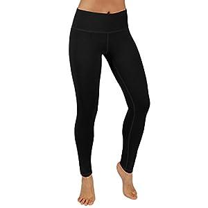 ODODOS Power Flex Yoga Pants Tummy Control Workout Leggings 4 way Stretch Yoga Pants With Pockets,Black,X-Large