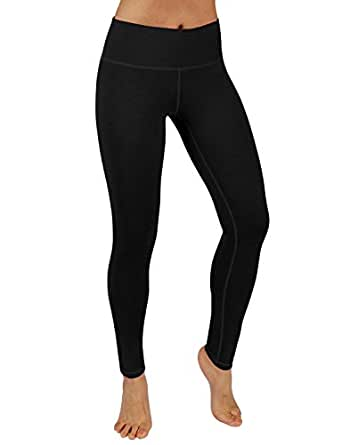 ODODOS Power Flex Yoga Pants Tummy Control Workout Leggings 4 way Stretch Yoga Pants With Pockets,Black,Small