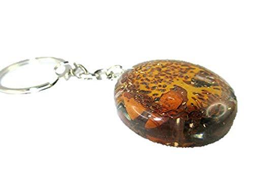 Orgone Key Chain - HiJet Beautiful Tiger Eye Tree of Life Orgonite Key Ring Orgone Generator Balancing Positive Energy Harmony Luck Yoga Meditation Reiki Natural Genuine Authentic Fashion Style