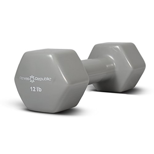 Fitness Republic Vinyl Hex Dumbbells 12 lbs Set (Vinyl Weights)