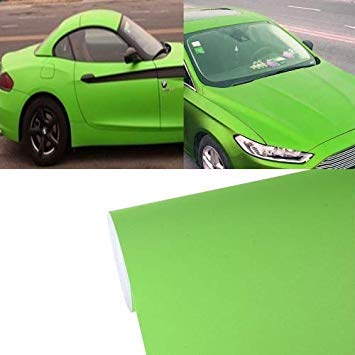Uniqus 7.5m  0.5m Grind Arenaceous Auto Car Sticker Pearl Frosted Flashing Body Changing color Film for Car Modification and Decoration(Green)