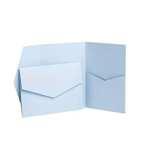 Baby Blue Matte Pocketfold Invites 130mmx185mm (1)